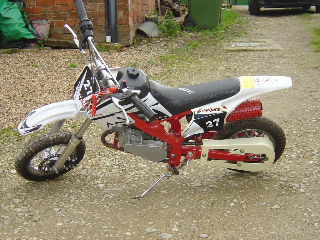 Hawkmoto 50 mini moto 50 LHS Motor Cycle Pit bike Breaking for spare parts