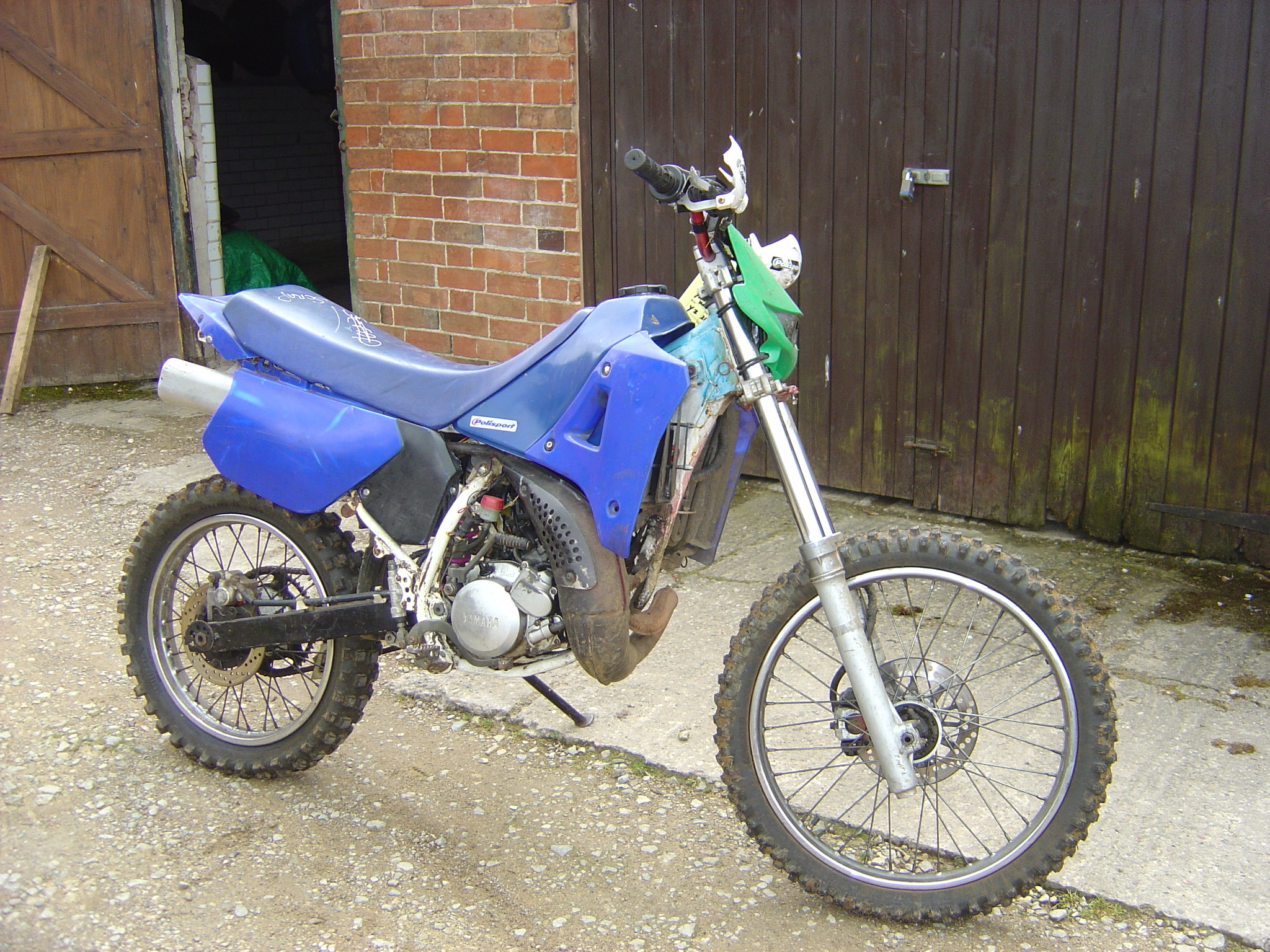 Yamaha DTR 125 before breaking for Spare Parts - Motor Cycle Breaking