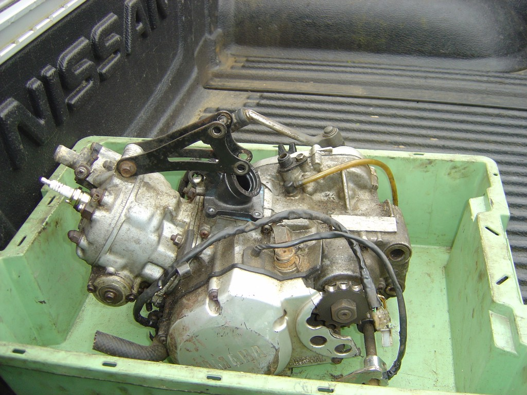 Yamaha DTR125 Engine 2002 LHS Motor Cycle Breaking for spare parts