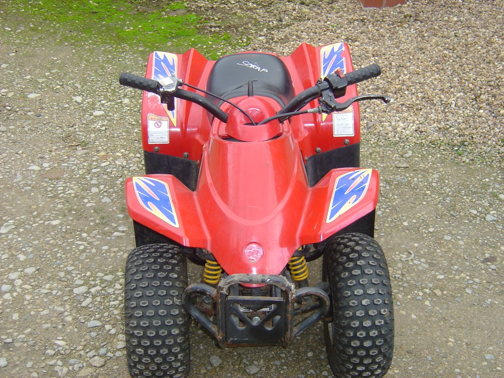 Eton-Rascal-50-Quad-Bike-Breaking-for-Spare-Parts-Front